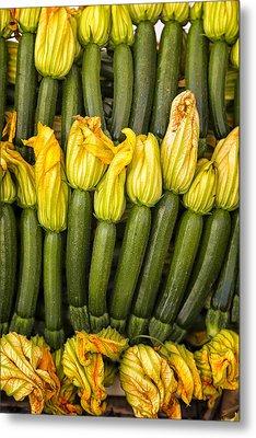 Zucchini Flowers Closeup Metal Print