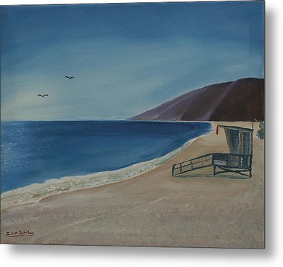 Zuma Lifeguard Tower Metal Print
