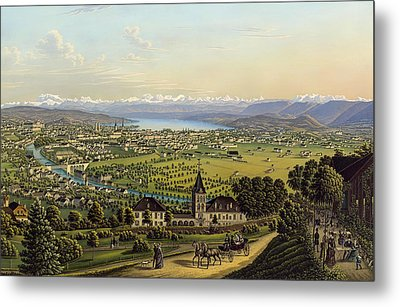 Zurich 1884 Metal Print by Mountain Dreams