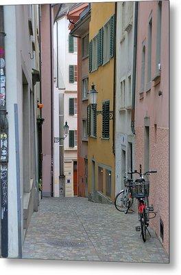 Zurich Old Town Street Metal Print