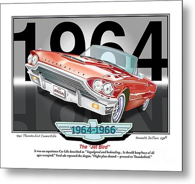 1964 Thunderbird Metal Print by Kenneth De Tore