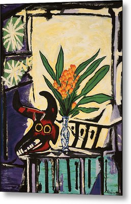 After Picasso's Still Life With Bull's Head Metal Print