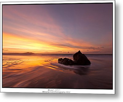 Metal Print featuring the photograph  Atomic Sunset by Beverly Cash