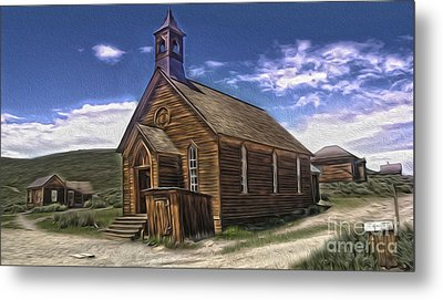 Bodie Ghost Town - Church 02 Metal Print by Gregory Dyer
