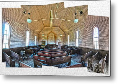 Bodie Ghost Town - Church 03 Metal Print by Gregory Dyer