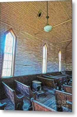 Bodie Ghost Town - Church 05 Metal Print by Gregory Dyer