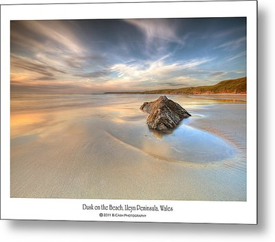 Dusk On The Beach Metal Print by Beverly Cash