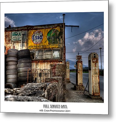 Full Service Days Metal Print by Beverly Cash