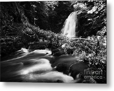 Gleno Or Glenoe Waterfall Beauty Spot County Antrim Northern Ireland Metal Print by Joe Fox
