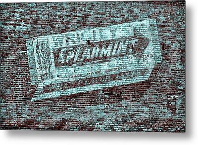 Gum On Brick Blue Metal Print by Tony Grider