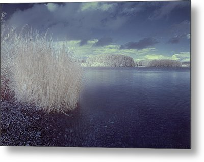 Metal Print featuring the photograph  Infrared At Llyn Brenig by Beverly Cash