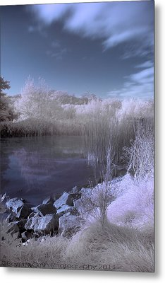 Metal Print featuring the photograph  Infrared Pond by Beverly Cash