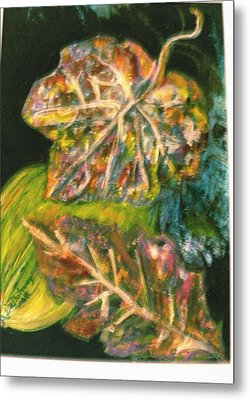 Leaves From My Imagination Metal Print by Anne-Elizabeth Whiteway