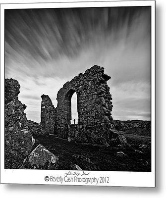 Llanddwyn Island Ruins Metal Print by Beverly Cash