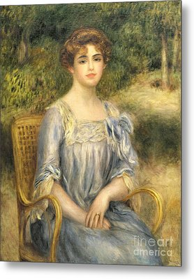 Madame Gaston Bernheim De Villers  Metal Print by Pierre Auguste Renoir