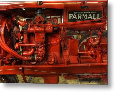 Mccormick Tractor - Farm Equipment  - Nostalgia - Vintage Metal Print by Lee Dos Santos