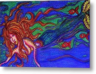 Mermaid Followers  Metal Print by Gerri Rowan