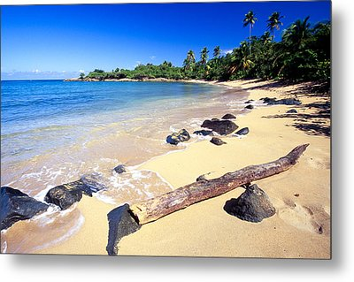 Pinones  Beach Scenic Metal Print by George Oze