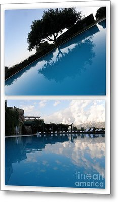 Metal Print featuring the photograph  Reflection. Collage by Tanya  Searcy
