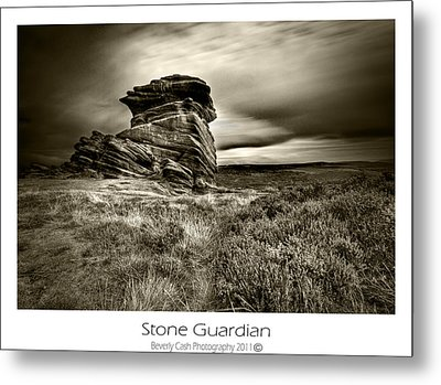 Metal Print featuring the photograph  Stone Guardian by Beverly Cash