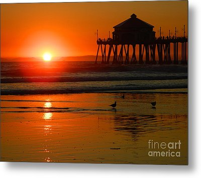 Metal Print featuring the photograph  Sunset Thoughts by Everette McMahan jr
