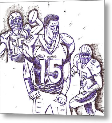 Tebow Time Let's Go  Metal Print by HPrince De Artist