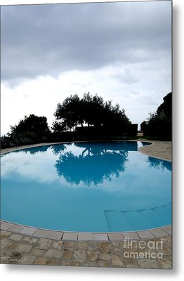 Metal Print featuring the photograph  Tree At The Pool On Amalfi Coast by Tanya  Searcy