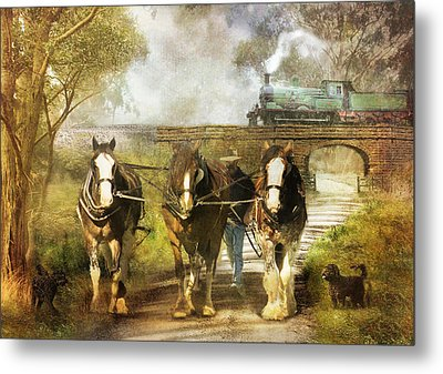 Under Our Own Steam Metal Print by Trudi Simmonds