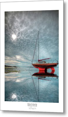 Metal Print featuring the photograph  Waiting For The Tide by Beverly Cash