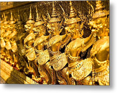 Metal Print featuring the photograph  Wat Phra Kaeo by Luciano Mortula