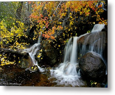 Metal Print featuring the photograph  Waterfall by Mitch Shindelbower