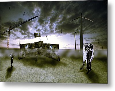 Who's Watching Who. Metal Print by Nathan Wright
