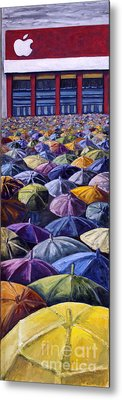 Metal Print featuring the painting 02153 Ipad Launch by AnneKarin Glass