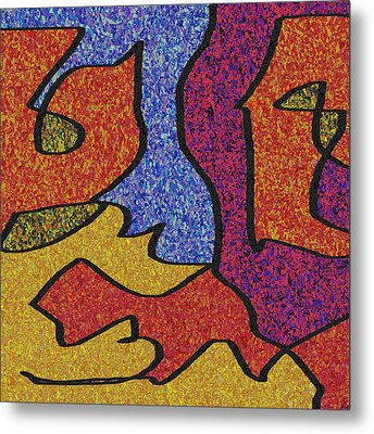0664 Abstract Thought Metal Print by Chowdary V Arikatla