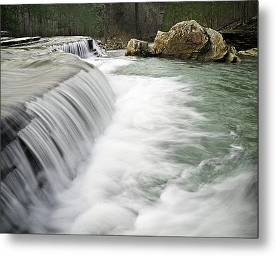 0804-0012 Six Finger Falls 1 Metal Print by Randy Forrester