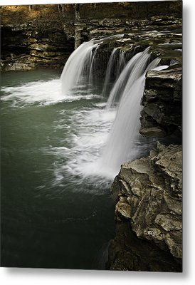0804-0013 Falling Water Falls 4 Metal Print by Randy Forrester