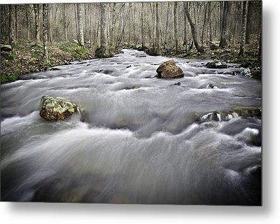 0804-0122 Rolling Creek Of The Ozark Mountains Metal Print by Randy Forrester