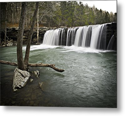 0805-0070 Falling Water Falls 3 Metal Print by Randy Forrester