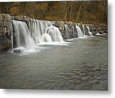 0902-6916 Natural Dam 1 Metal Print by Randy Forrester