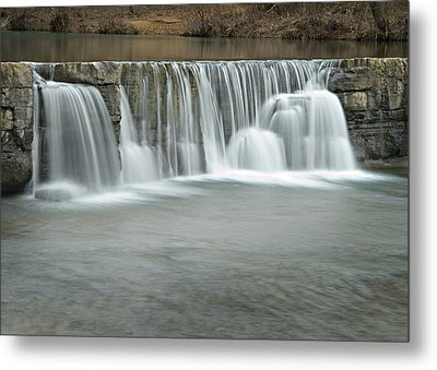 0902-7025 Natural Dam 3 Metal Print by Randy Forrester