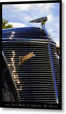 Metal Print featuring the photograph 1937 Ford Model 78 Cabriolet Convertible By Darrin by Gordon Dean II
