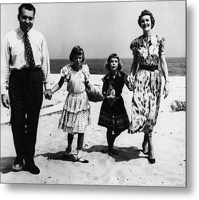 1956 Us Presidency, Nixon Family.  From Metal Print by Everett