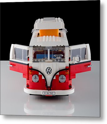 1962 Vw Lego Bus Metal Print by Noah Katz