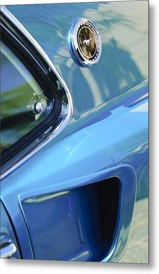 1969 Ford Mustang Mach 1 Emblem 2 Metal Print by Jill Reger