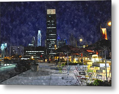30th Street Station Plaza Metal Print