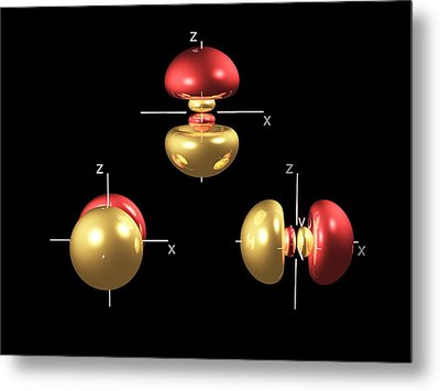 3p Electron Orbitals Metal Print by Dr Mark J. Winter