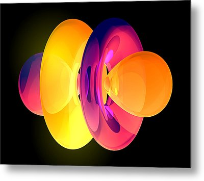 4fz3 Electron Orbital Metal Print by Laguna Design