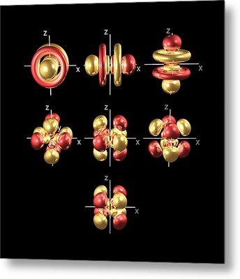 5f Electron Orbitals, Cubic Set Metal Print by Dr Mark J. Winter