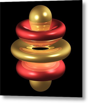 5gz4 Electron Orbital Metal Print by Dr Mark J. Winter
