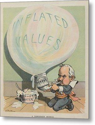 A Dangerous Bubble 1902 Cartoon Metal Print by Everett